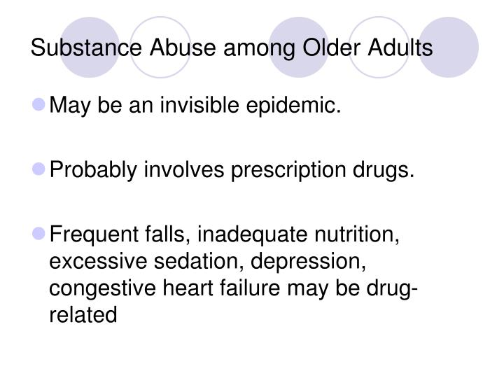 Substance Abuse among Older Adults
