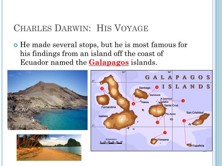 Charles Darwin:  His Voyage