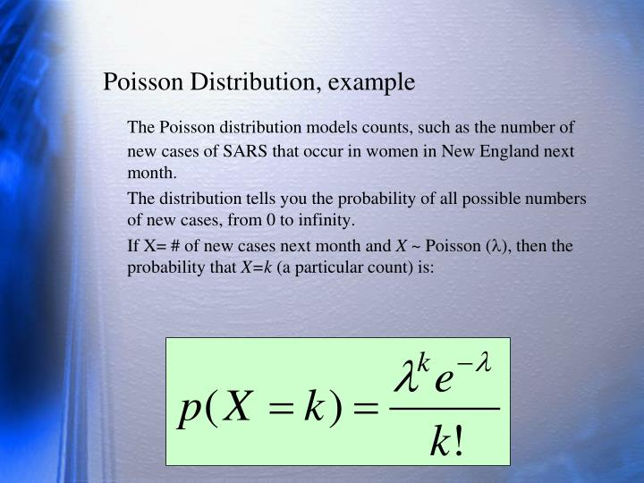 Poisson Distribution, example