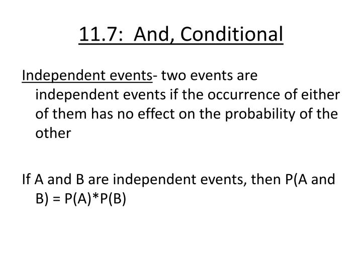 11.7:  And, Conditional