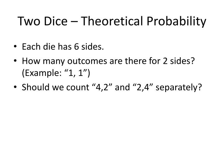 Two Dice – Theoretical Probability