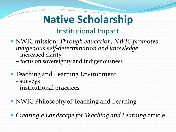 Native Scholarship
