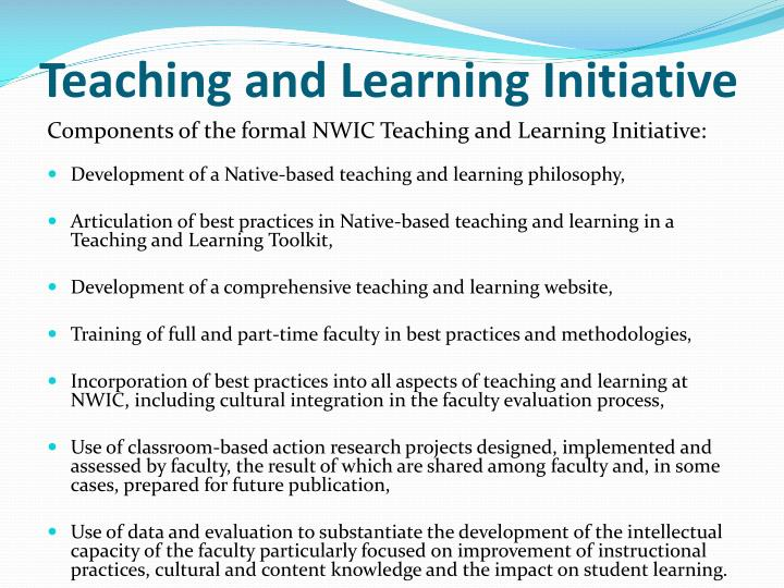 Teaching and Learning Initiative