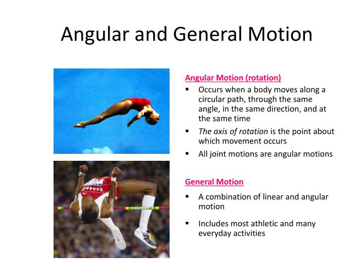 Angular and General Motion