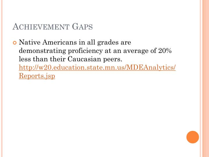 Achievement Gaps