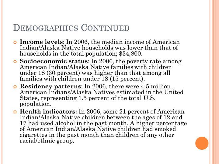 Demographics Continued