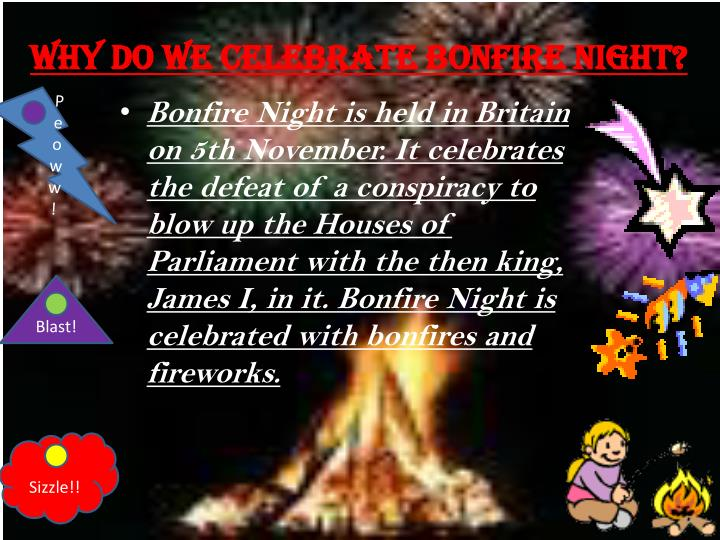 Why do we celebrate bonfire night?