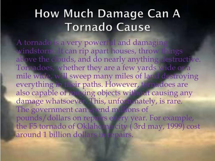 How Much Damage Can A Tornado Cause