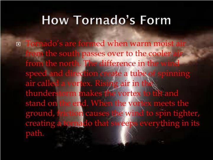 How Tornado's Form