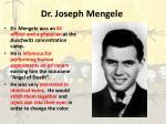 dr joseph mengele