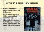 hitler s final solution