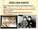 jews lose rights