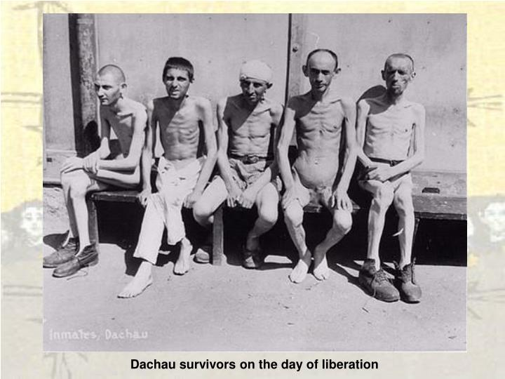 Dachau survivors on the day of liberation