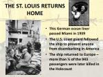 the st louis returns home