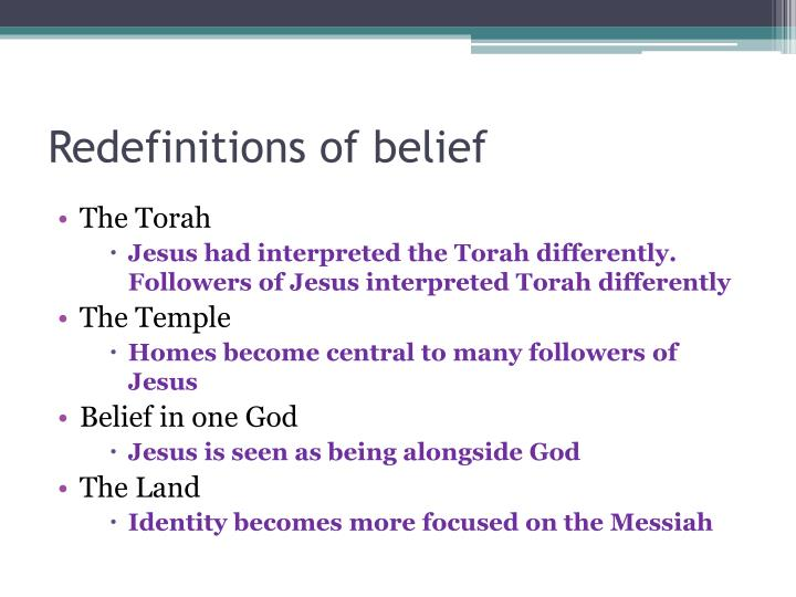 Redefinitions of belief