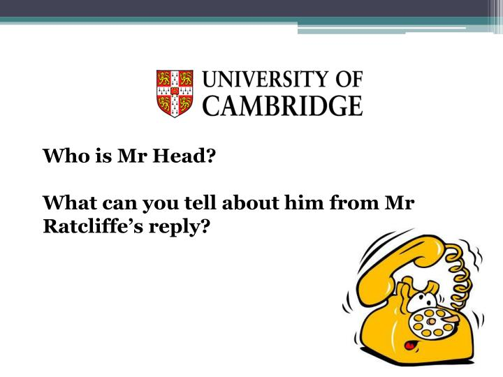 Who is Mr Head?