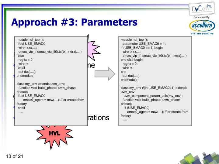 Approach #3: Parameters