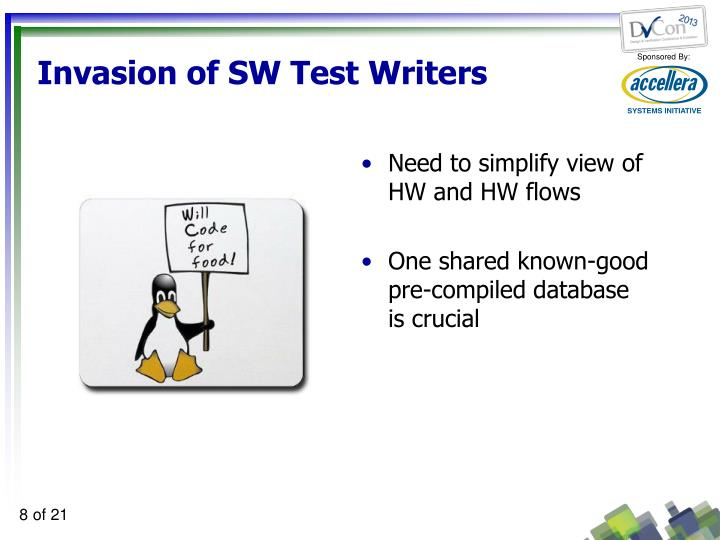 Invasion of SW Test Writers
