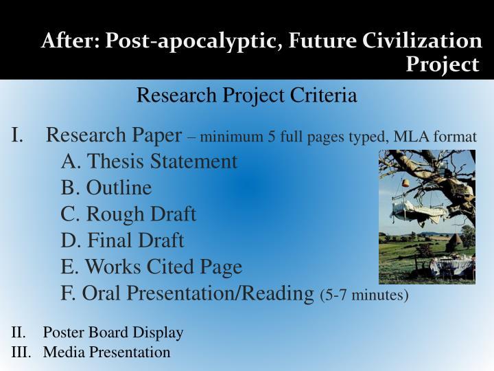 Poster board presentation outline