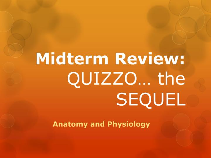 Midterm review quizzo the sequel