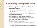 constructing a topographic profile
