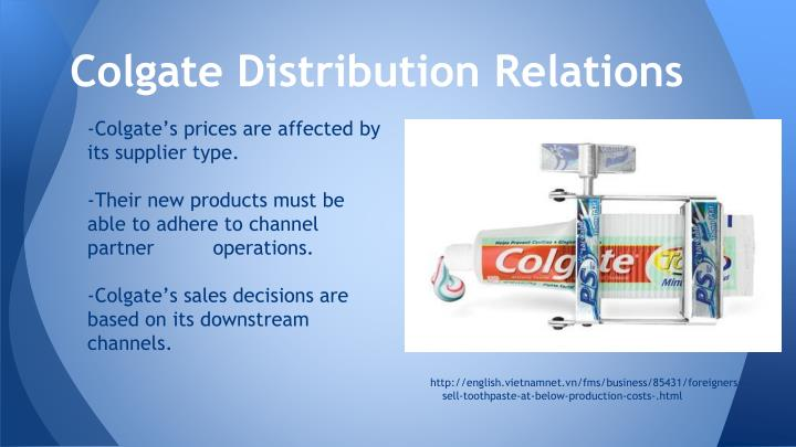 Colgate Distribution Relations