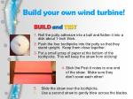 build your o wn wind turbine