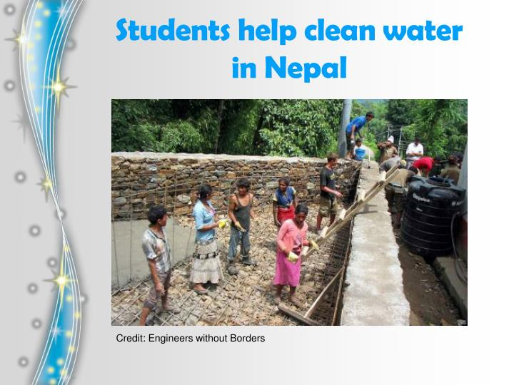 Students help clean water