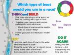 which type of boat would you use in a race