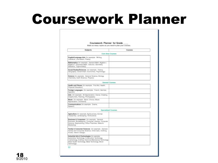 Coursework Planner