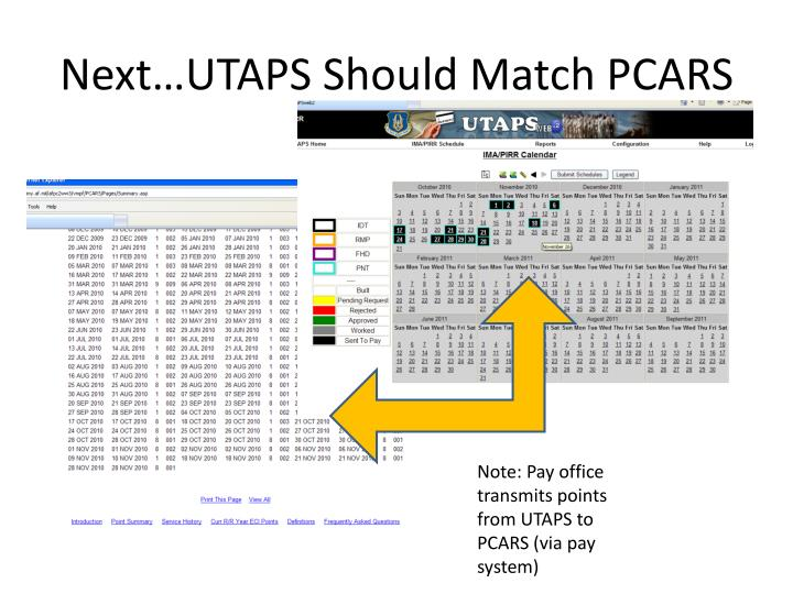Next…UTAPS Should Match PCARS