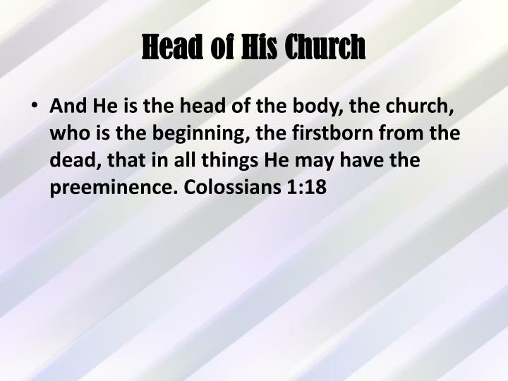 Head of His Church