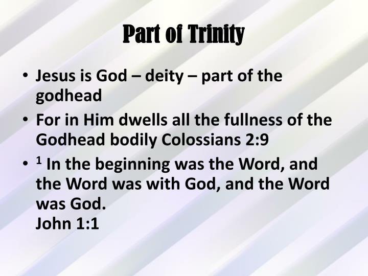 Part of Trinity
