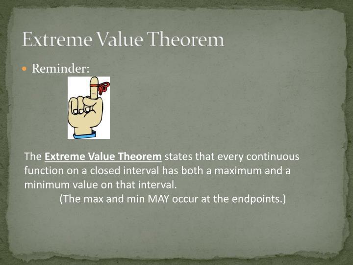 Extreme Value Theorem
