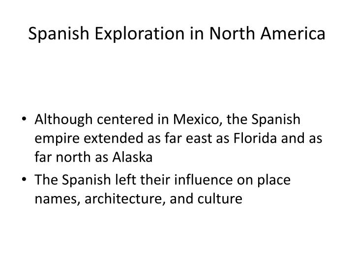 Spanish Exploration in North America