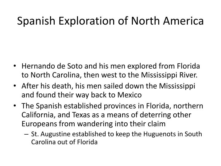 Spanish Exploration of North America