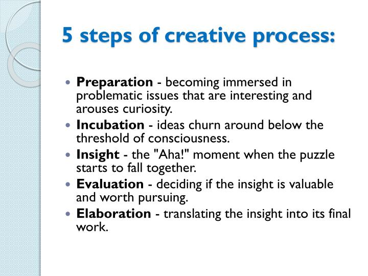5 steps of creative process