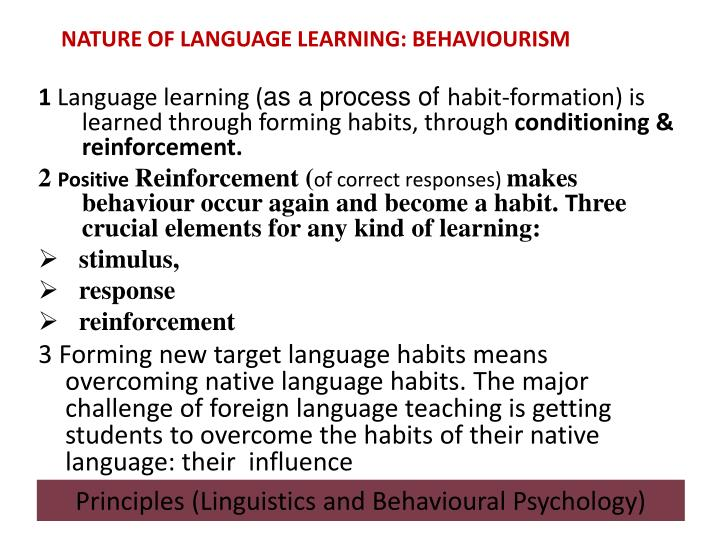 NATURE OF LANGUAGE LEARNING: