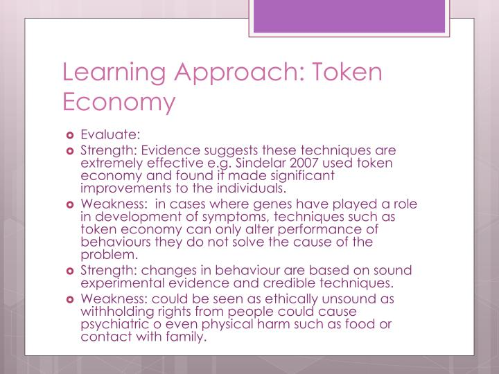 Learning Approach: Token Economy
