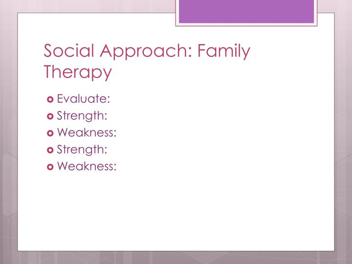Social approach family therapy1