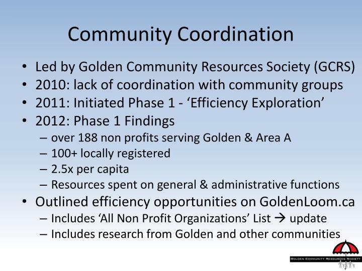 Community Coordination