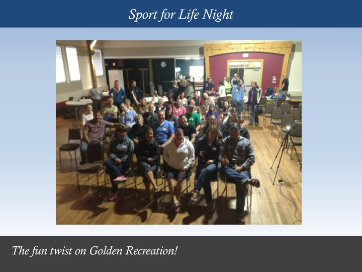 Sport for Life Night