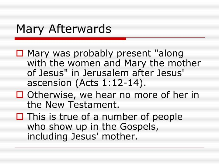 Mary Afterwards