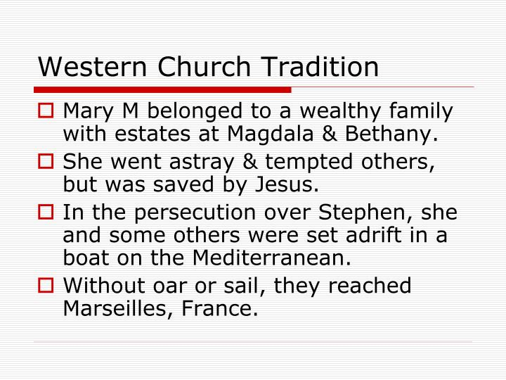 Western Church Tradition