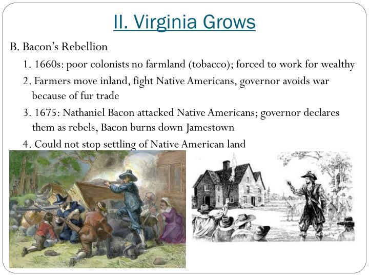 II. Virginia Grows