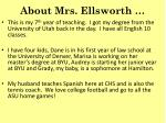 about mrs ellsworth