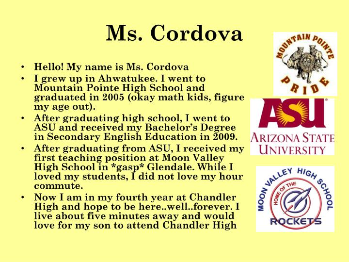 Ms. Cordova