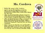 ms cordova