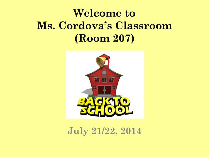 Welcome to ms cordova s classroom room 207