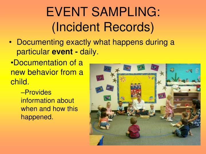 EVENT SAMPLING: